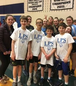 Girls' Basketball Volunteers with Special Olympics