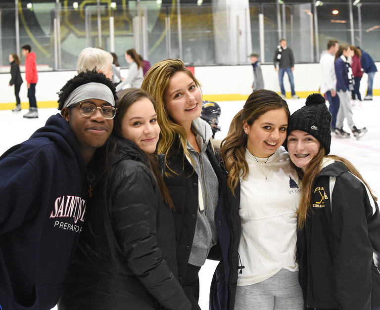 Skating Party Brings Holiday Cheer to SJP Community